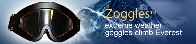 Zoggles anti-fog technology prevents any object from fogging or frosting